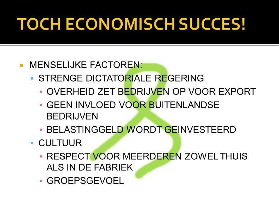 TOCH ECONOMISCH SUCCES!
