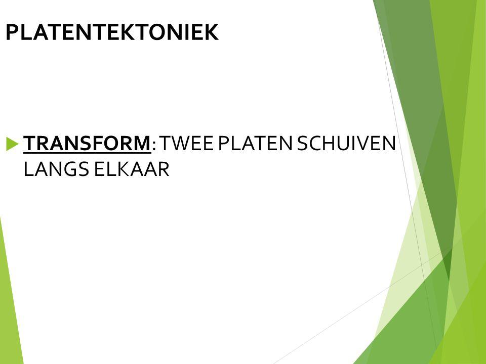 PLATENTEKTONIEK TRANSFORM: TWEE PLATEN SCHUIVEN LANGS ELKAAR 14