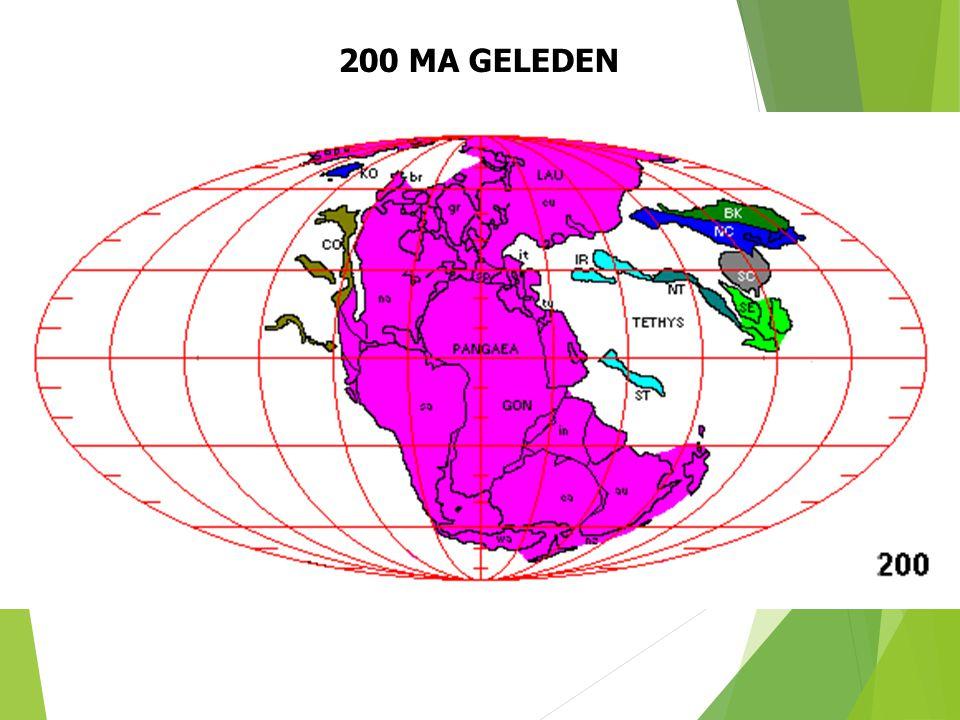 200 MA GELEDEN Paleogeografische situatie 200 Ma geleden (naar S. Dutch). 31