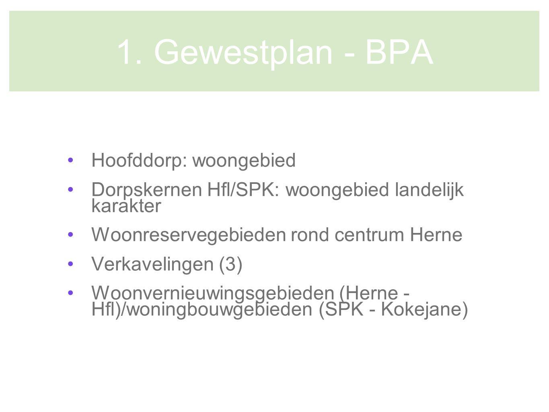 1. Gewestplan - BPA Hoofddorp: woongebied