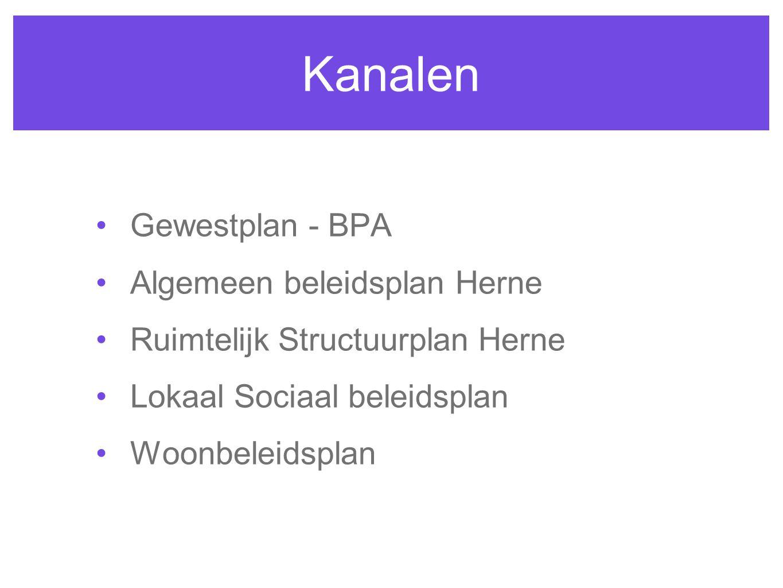 Kanalen Gewestplan - BPA Algemeen beleidsplan Herne