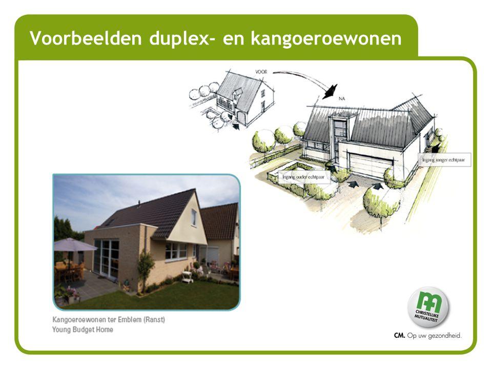Voorbeelden duplex- en kangoeroewonen