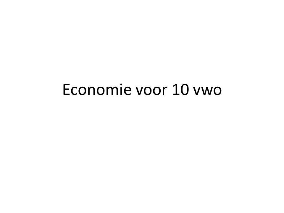 Economie voor 10 vwo