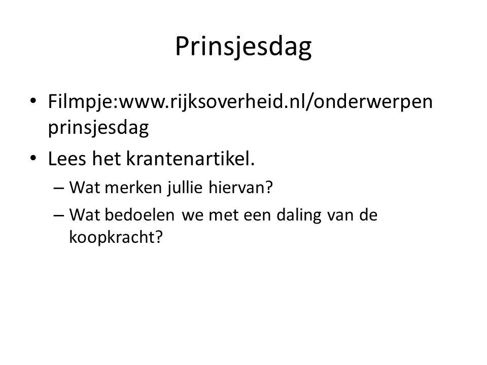 Prinsjesdag Filmpje:www.rijksoverheid.nl/onderwerpen prinsjesdag