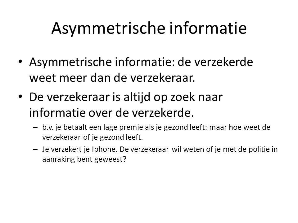 Asymmetrische informatie