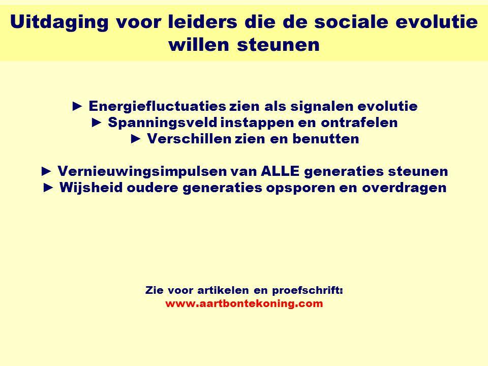 Uitdaging voor leiders die de sociale evolutie willen steunen