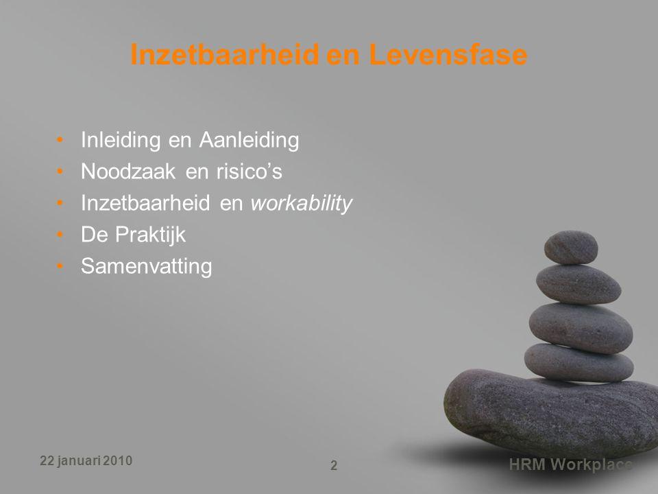 Inzetbaarheid en Levensfase