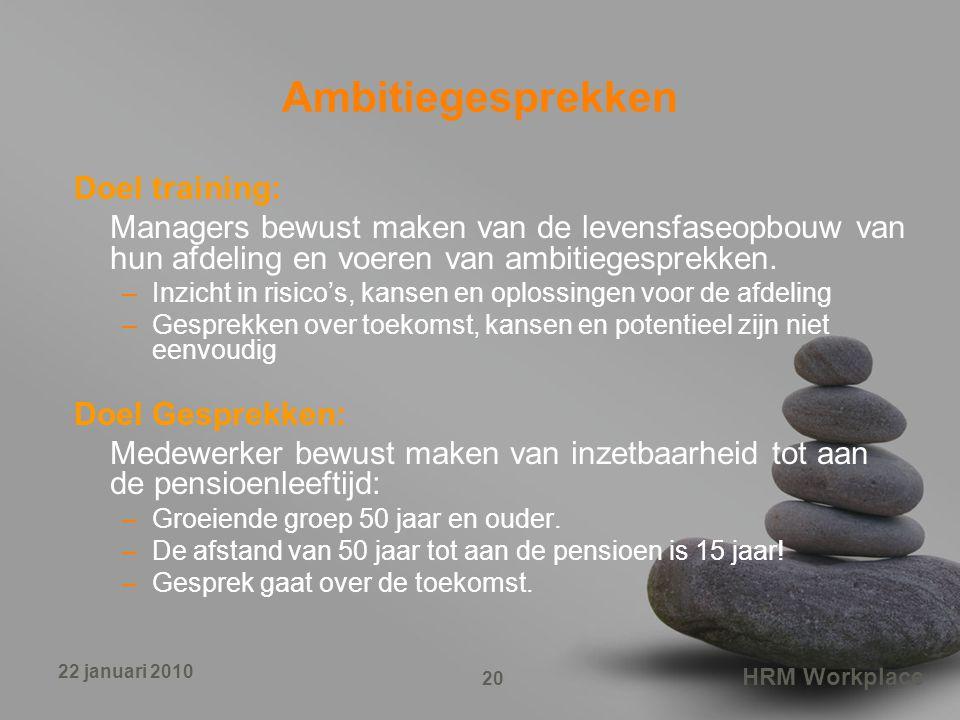 Ambitiegesprekken Doel training: