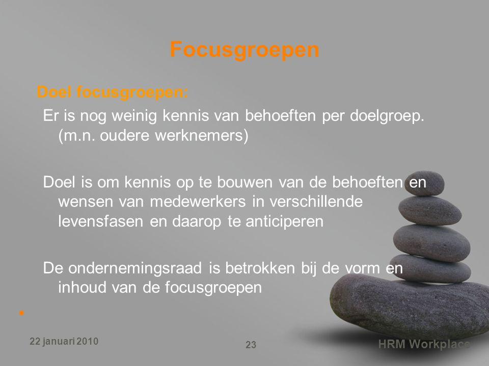 Focusgroepen Doel focusgroepen: