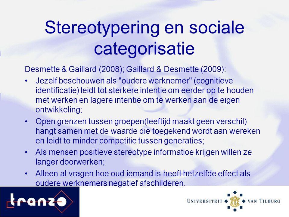 Stereotypering en sociale categorisatie