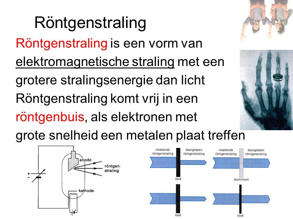 Röntgenstraling Röntgenstraling is een vorm van