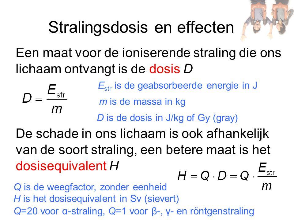 Stralingsdosis en effecten