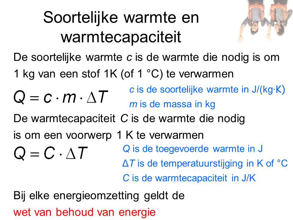 Soortelijke warmte en warmtecapaciteit