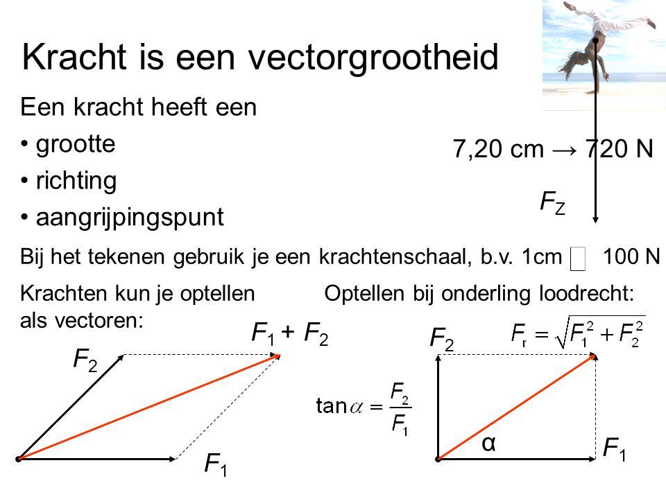 Kracht is een vectorgrootheid