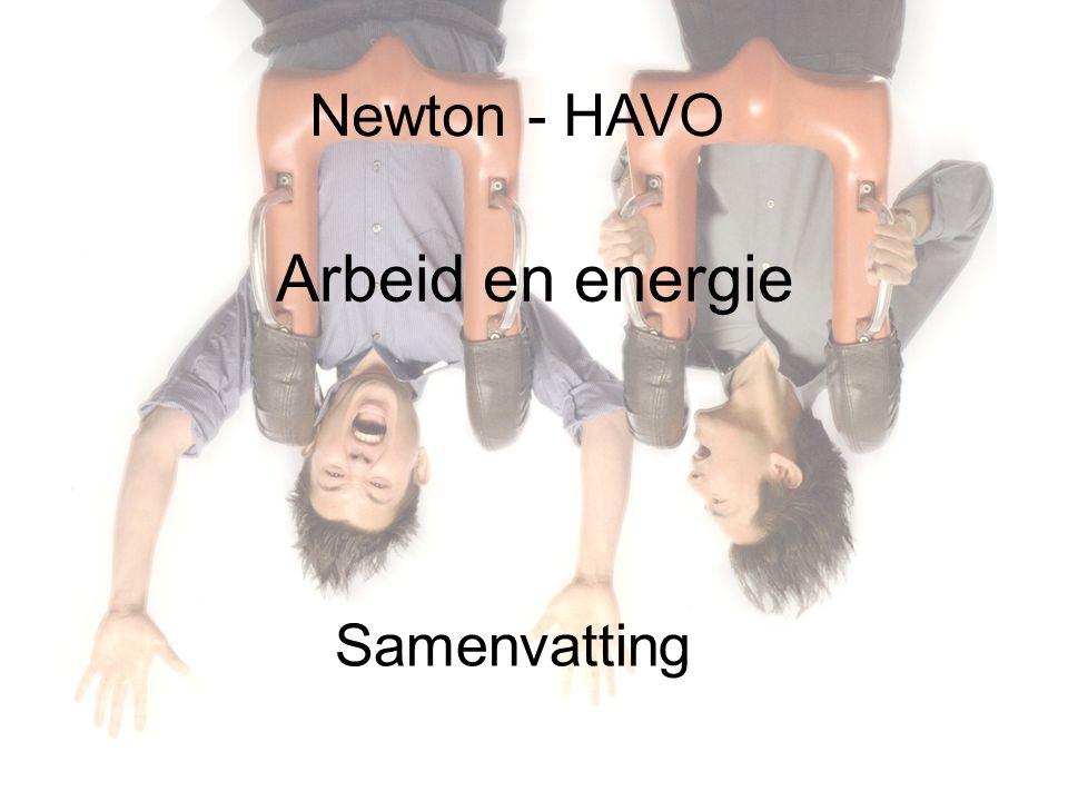 Newton - HAVO Arbeid en energie Samenvatting