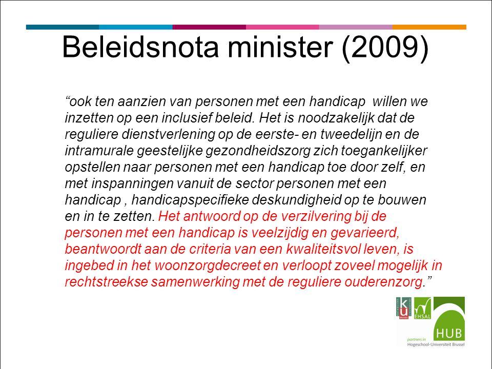 Beleidsnota minister (2009)