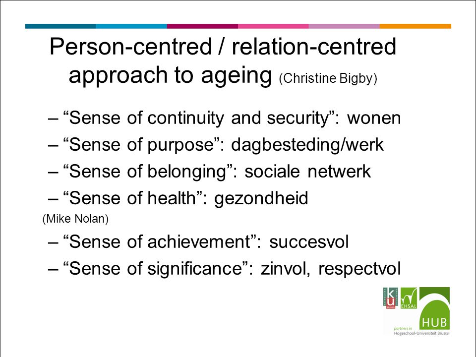 Person-centred / relation-centred approach to ageing (Christine Bigby)