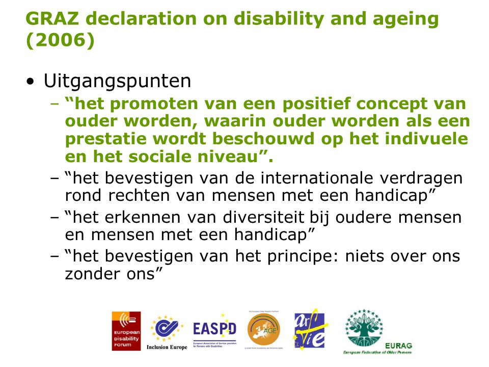 GRAZ declaration on disability and ageing (2006)