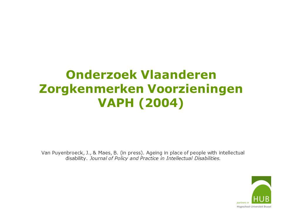 Onderzoek Vlaanderen Zorgkenmerken Voorzieningen VAPH (2004)