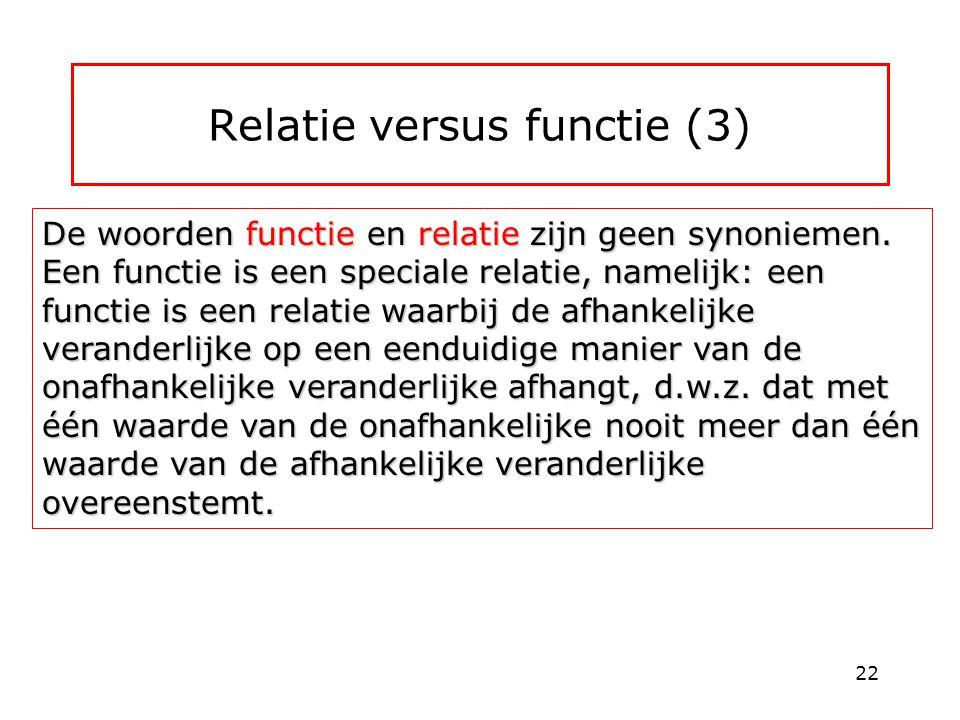 Relatie versus functie (3)