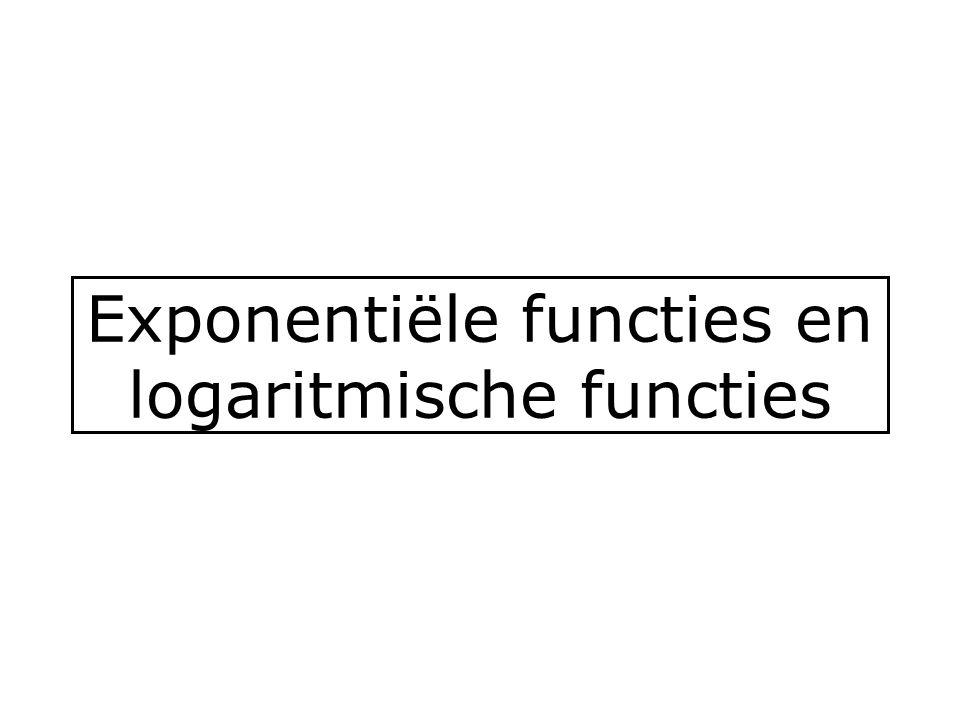 Exponentiële functies en logaritmische functies