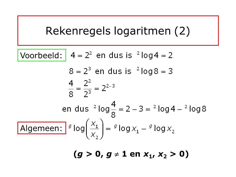 Rekenregels logaritmen (2)