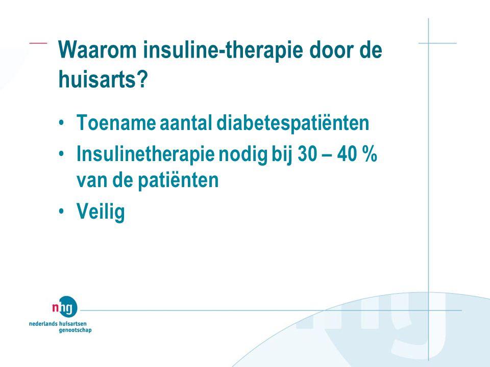 Waarom insuline-therapie door de huisarts