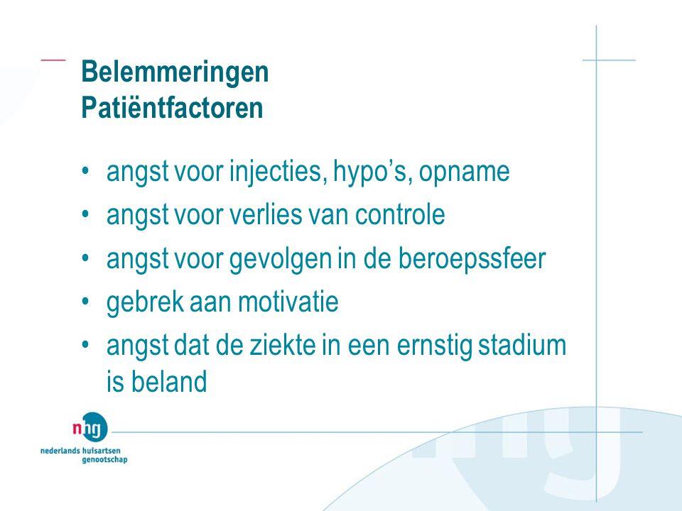 Belemmeringen Patiëntfactoren