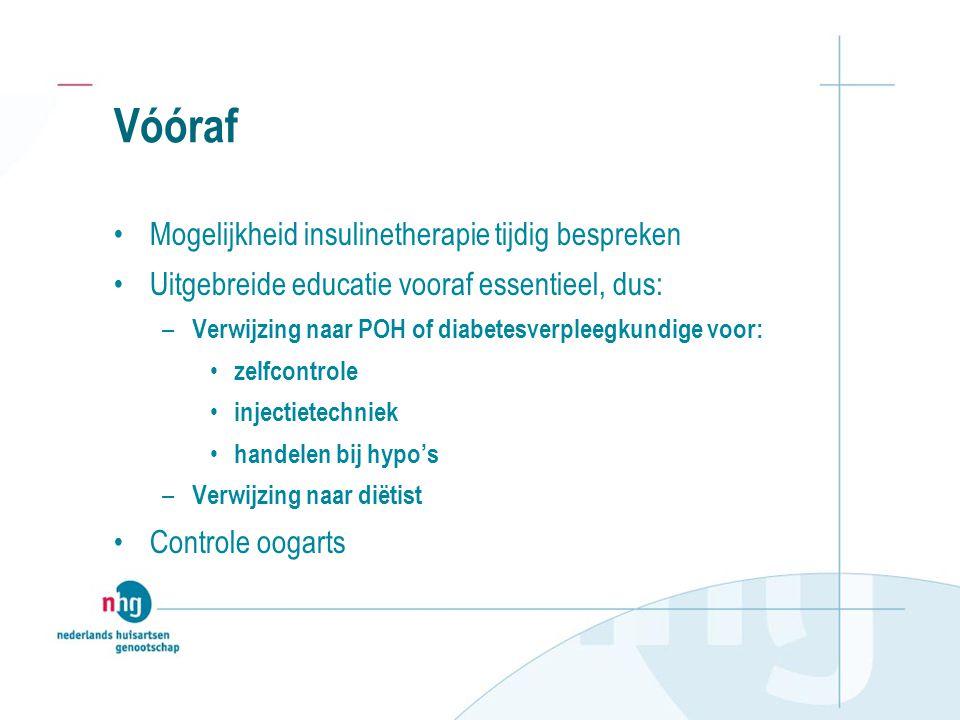 Vóóraf Mogelijkheid insulinetherapie tijdig bespreken