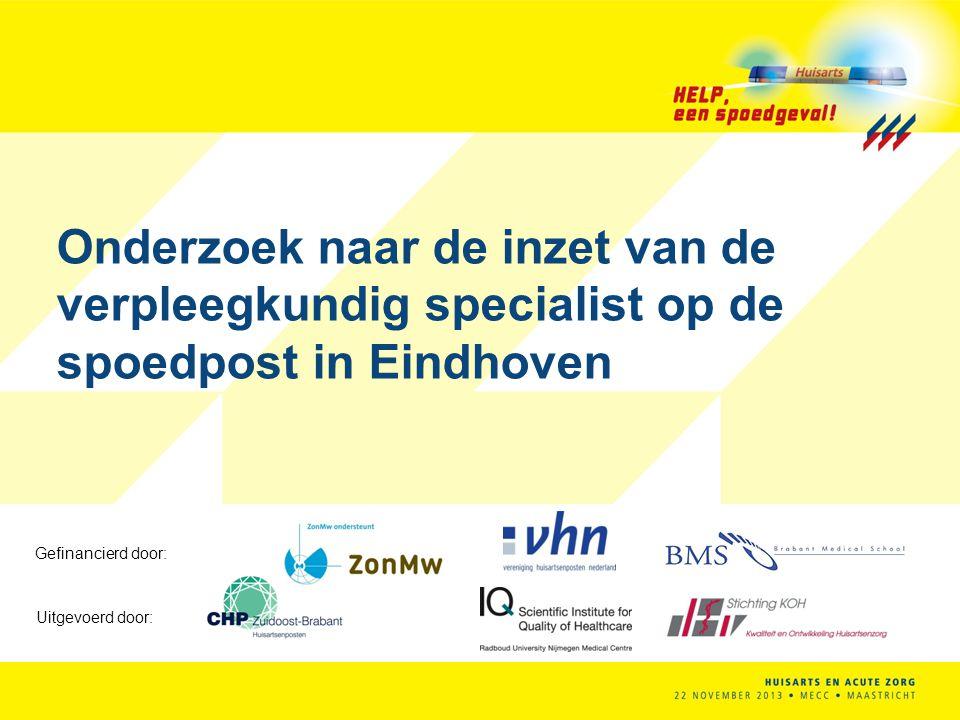 Onderzoek naar de inzet van de verpleegkundig specialist op de spoedpost in Eindhoven