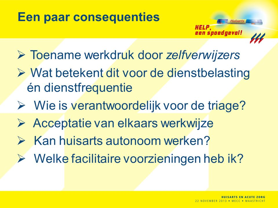 Een paar consequenties