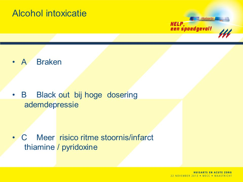 Alcohol intoxicatie A Braken