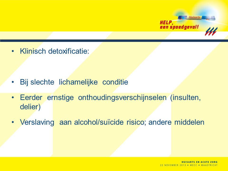 Klinisch detoxificatie: