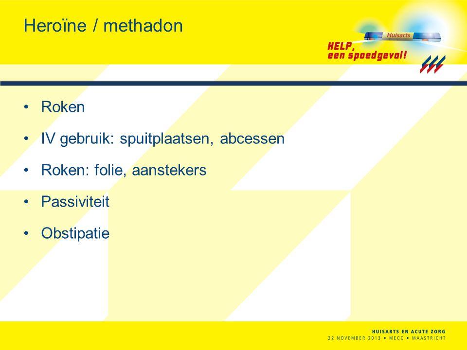 Heroïne / methadon Roken IV gebruik: spuitplaatsen, abcessen