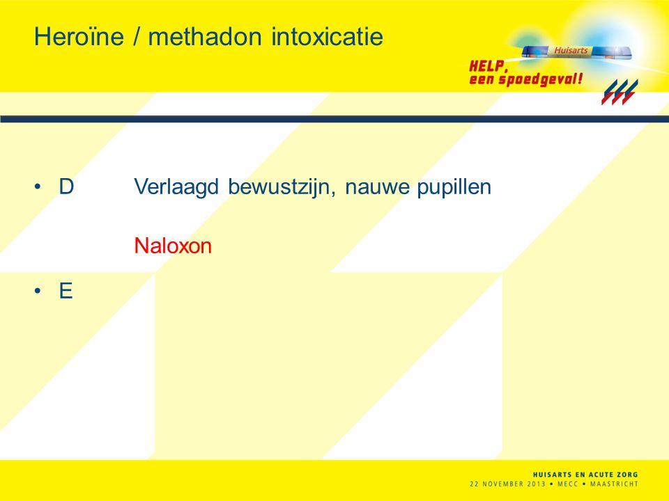 Heroïne / methadon intoxicatie