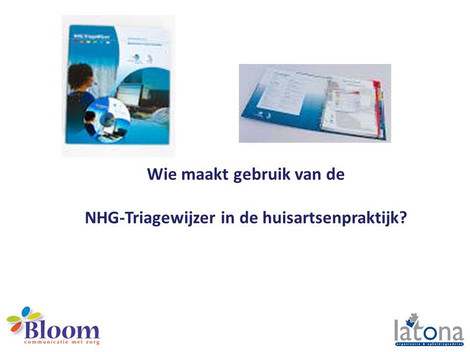 Wie maakt gebruik van de NHG-Triagewijzer in de huisartsenpraktijk