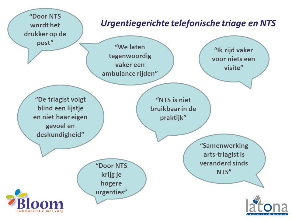 Urgentiegerichte telefonische triage en NTS
