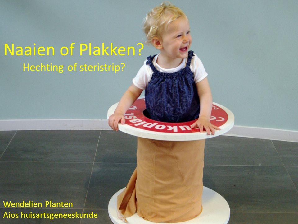 Naaien of Plakken Hechting of steristrip