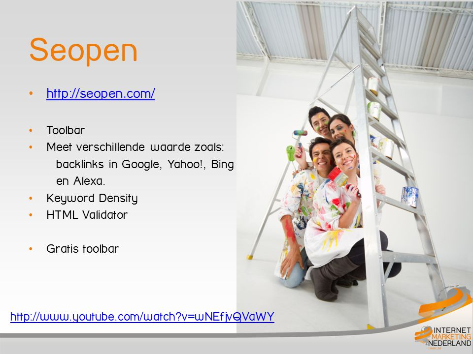 Seopen http://seopen.com/ Toolbar Meet verschillende waarde zoals: