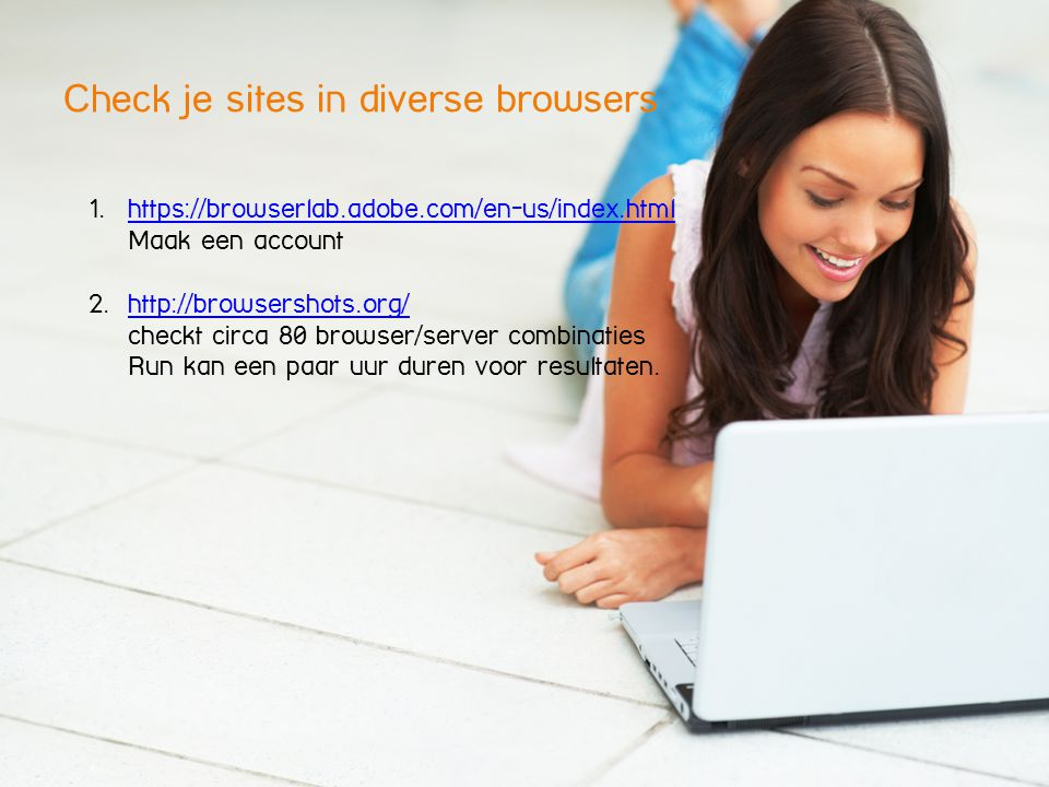Check je sites in diverse browsers