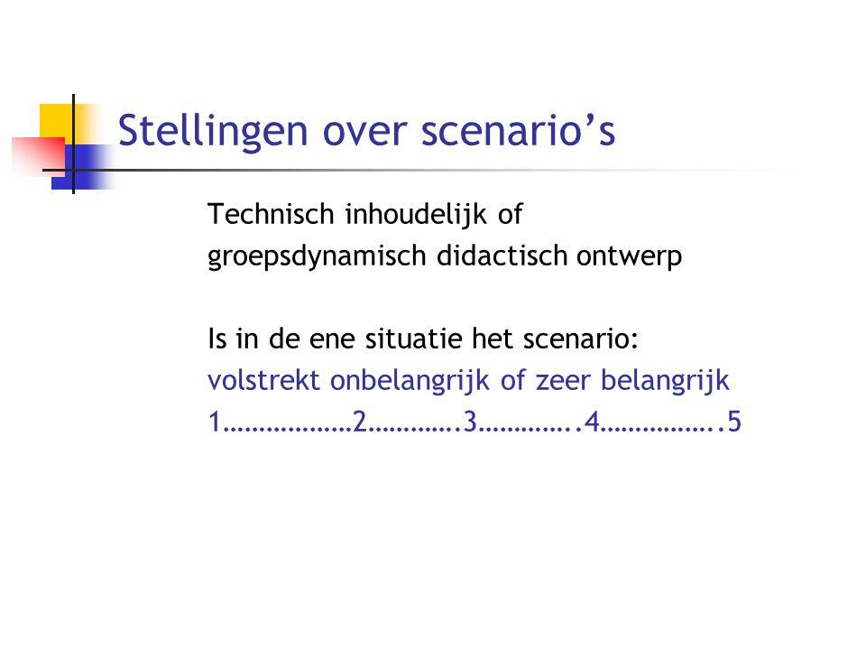Stellingen over scenario's