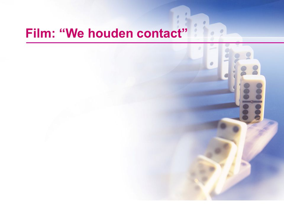 Film: We houden contact