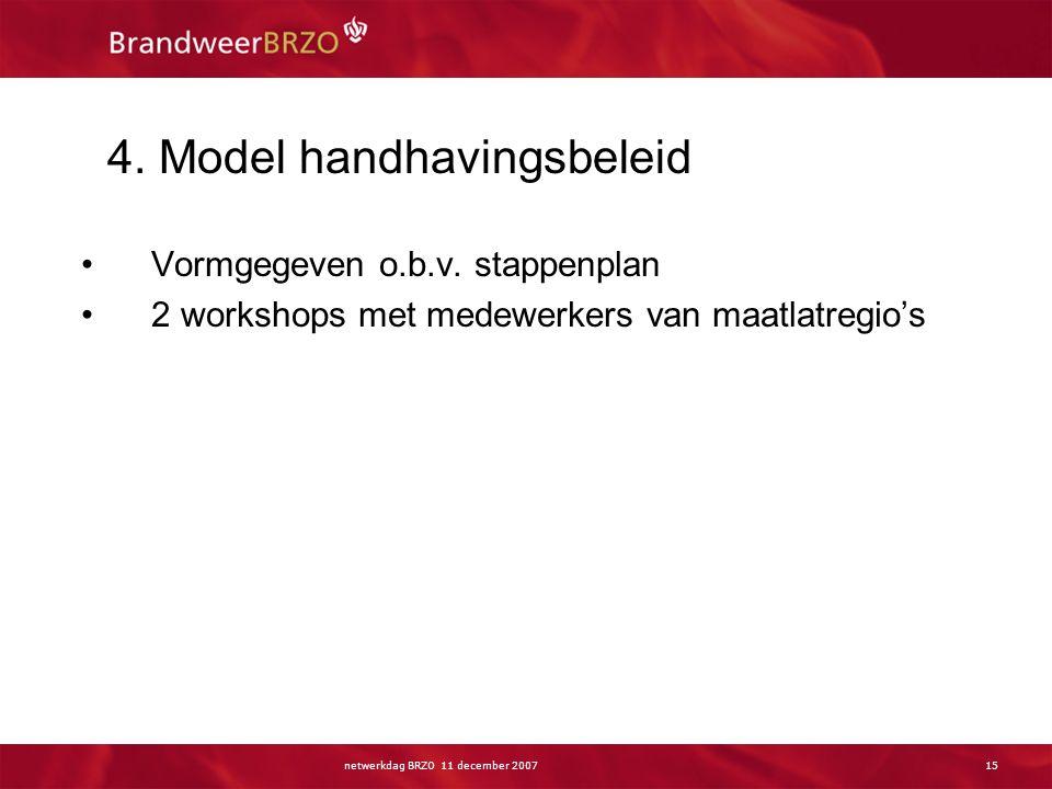 Stap 6 en 7 Uitwerking: model handhavingsbeleid