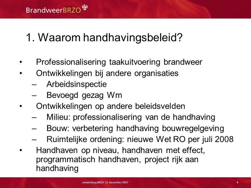 Inhoud presentatie Waarom handhavingsbeleid Wat is handhavingsbeleid