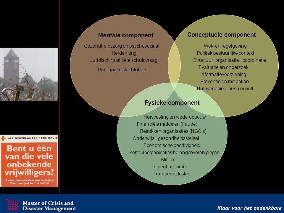 Mentale component Conceptuele component Fysieke component