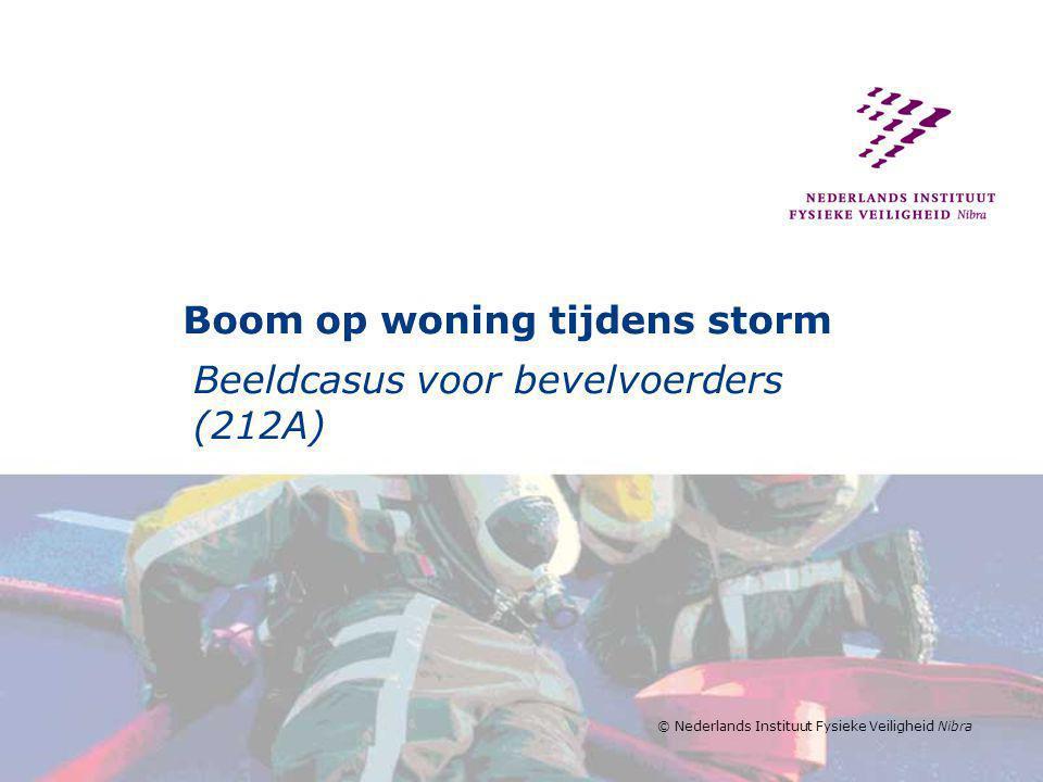 Boom op woning tijdens storm