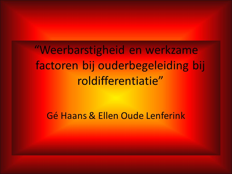 Gé Haans & Ellen Oude Lenferink