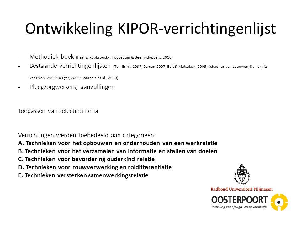 Ontwikkeling KIPOR-verrichtingenlijst