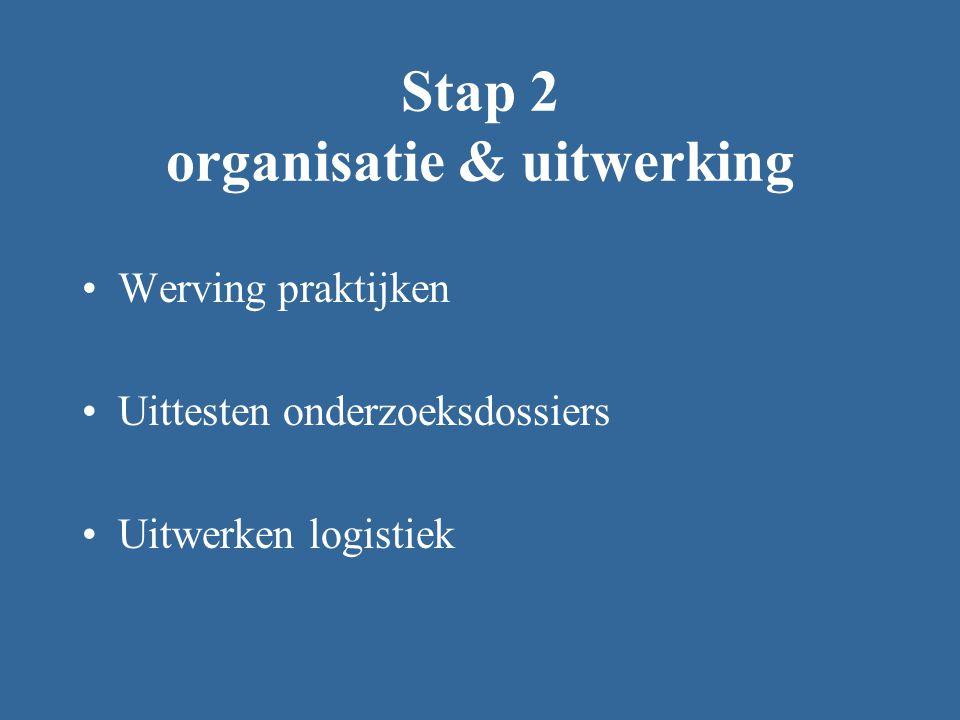 Stap 2 organisatie & uitwerking