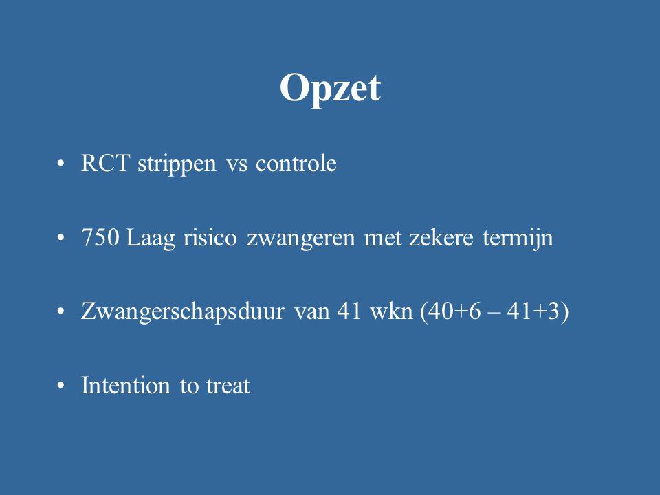 Opzet RCT strippen vs controle